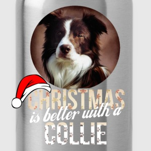 Collie - Christmas is better with a Collie - Water Bottle