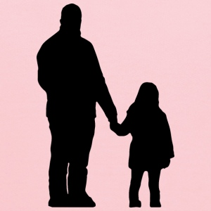 Father And Daughter Silhouette - Kids' Hoodie