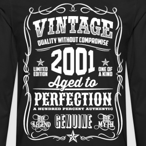 2001 Aged to Perfection White print - Men's Premium Long Sleeve T-Shirt