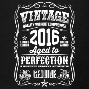 2016 Aged to Perfection White print - Men's T-Shirt