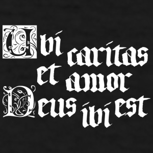 Ubi Caritas (dark) Mugs & Drinkware - Men's T-Shirt