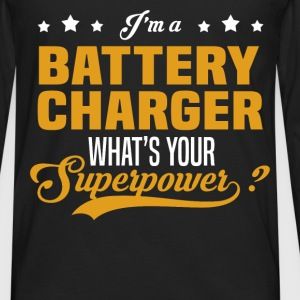 Battery Charger - Men's Premium Long Sleeve T-Shirt