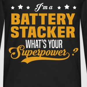 Battery Stacker - Men's Premium Long Sleeve T-Shirt