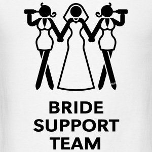 Bride Support Team (Hen Night, Bachelorette Party) Tanks - Men's T-Shirt