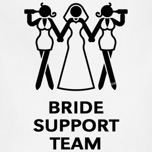 Bride Support Team (Hen Night, Bachelorette Party) T-Shirts - Adjustable Apron
