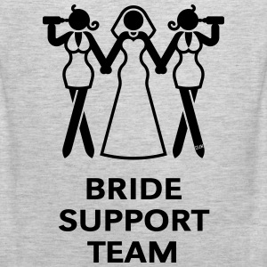 Bride Support Team (Hen Night, Bachelorette Party) T-Shirts - Men's Premium Tank