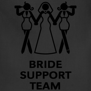Bride Support Team (Hen Night, Bachelorette Party) Tanks - Adjustable Apron
