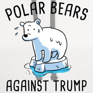 Polar Bears Against Trump - Contrast Hoodie