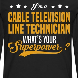 Cable Television Line Technician - Men's Premium Long Sleeve T-Shirt