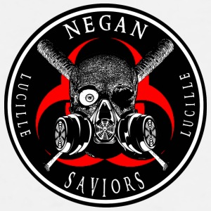 Biohazard Negan Saviors Lucille Bat Ring Patch Sportswear - Men's Premium T-Shirt