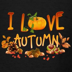 i_love_autumn_11_201602 Aprons - Men's T-Shirt