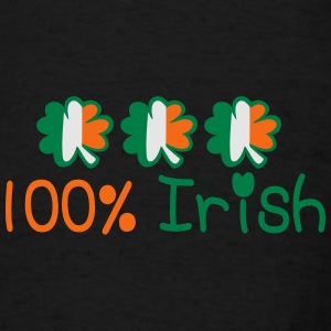 ♥ټ☘I'm 100% Irish-Irish Power Apron☘ټ♥ - Men's T-Shirt