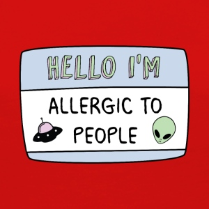 Hello I'm Allergic to People - Women's Premium Long Sleeve T-Shirt
