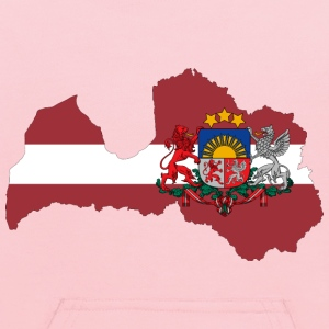 Latvia Map Flag With Stroke And Coat Of Arms - Kids' Hoodie