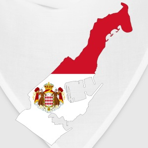Monaco Map Flag With Coat Of Arms - Bandana