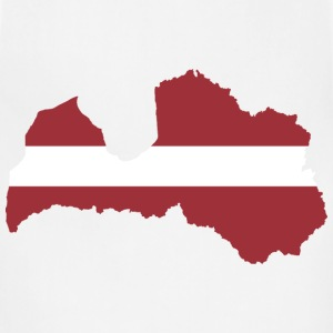 Latvia Map Flag - Adjustable Apron