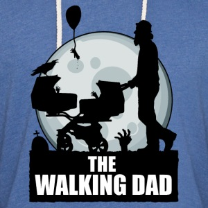 THE WALKING DAD zombie T-Shirts - Unisex Lightweight Terry Hoodie