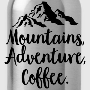 Mountains, Adventure, Coffee T-Shirts - Water Bottle