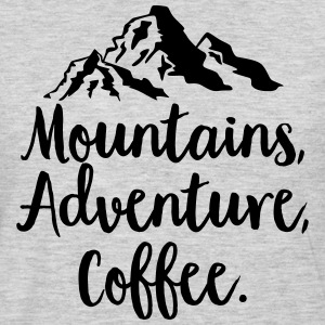 Mountains, Adventure, Coffee T-Shirts - Men's Premium Long Sleeve T-Shirt