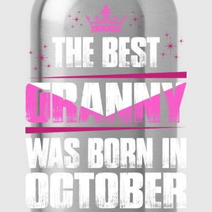 The Best Granny Was Born In October T-Shirts - Water Bottle