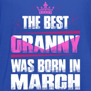 The Best Granny Was Born In March T-Shirts - Women's Flowy Tank Top by Bella