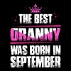 The Best Granny Was Born In September T-Shirts - Women's Premium T-Shirt