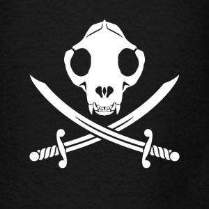 Jolly Kitty Pirate Skull, Bones ans Sabres Bags & backpacks - Men's T-Shirt