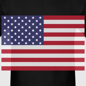 Original cross-stitch american flag Long Sleeve Shirts - Men's T-Shirt