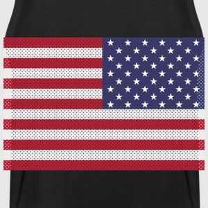 Original cross-stitch american flag Hoodies - Men's Premium Tank