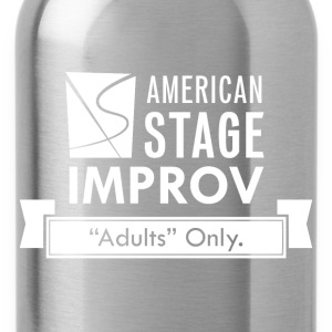 American Stage Improv Logo - Water Bottle