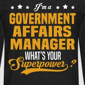 Government Affairs Manager - Men's Premium Long Sleeve T-Shirt
