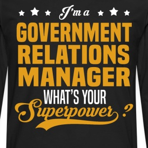 Government Relations Manager - Men's Premium Long Sleeve T-Shirt