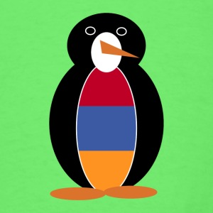 Mr. Penguin in Armenia Short Sleeve Baby Bodysuit - Men's T-Shirt