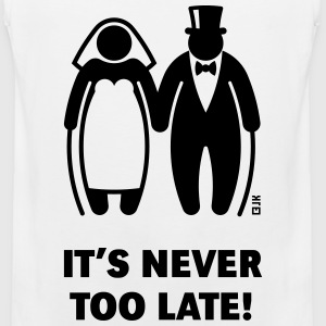 It's Never Too Late! (Mature Couple / Wedding) - Men's Premium Tank