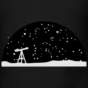 Astronomy, Telescope and starry night sky Hoodies - Men's T-Shirt