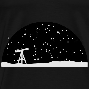 Astronomy, Telescope and starry night sky Hoodies - Men's Premium T-Shirt