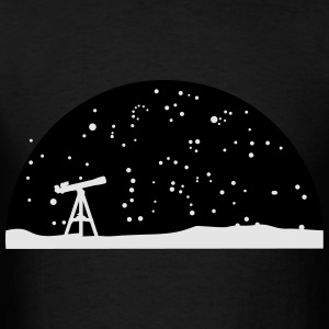 Astronomy, Telescope and starry night sky Long Sleeve Shirts - Men's T-Shirt
