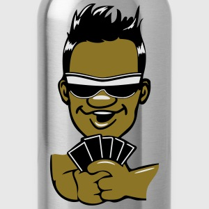Head hands playing poker sunglasses T-Shirts - Water Bottle