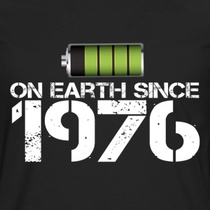 on earth since 1976 - Men's Premium Long Sleeve T-Shirt