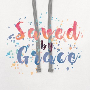 Saved by Grace Tee! - Contrast Hoodie