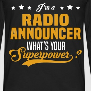 Radio Announcer - Men's Premium Long Sleeve T-Shirt