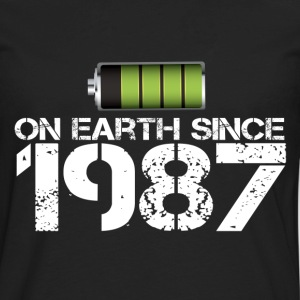 on earth since 1987 - Men's Premium Long Sleeve T-Shirt