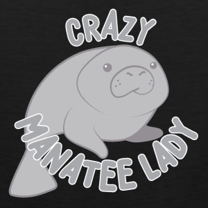 crazy manatee lady T-Shirts - Men's Premium Tank