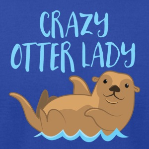 crazy otter lady Tanks - Men's T-Shirt by American Apparel