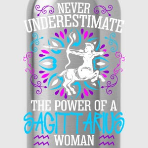 Never Underestimate The Power Of A Sagittarius Wom T-Shirts - Water Bottle