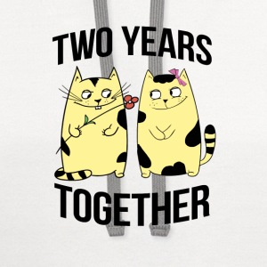 two years together - Contrast Hoodie