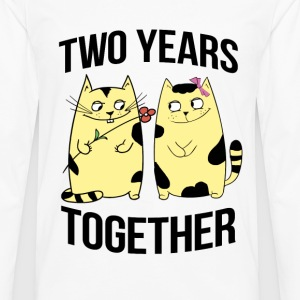 two years together - Men's Premium Long Sleeve T-Shirt