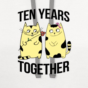 Ten years together - Contrast Hoodie