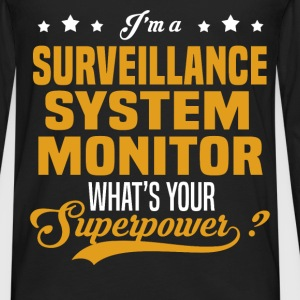 Surveillance System Monitor - Men's Premium Long Sleeve T-Shirt