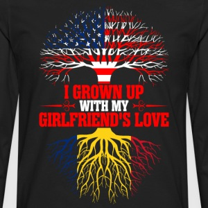 American Grown Up With My Romanian Girlfriends T-Shirts - Men's Premium Long Sleeve T-Shirt